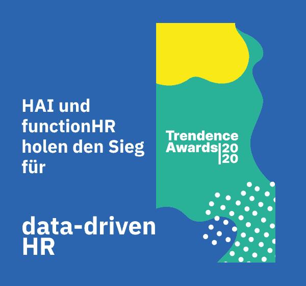functionHR gewinnt mit HAI den Trendence Awards 2020 für data-driven HR