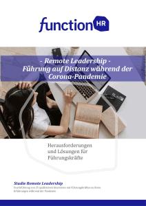 Remote Leadership Studie