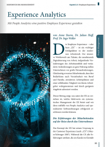 Experience Analytics HR Handbuch Publikation