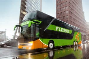 flixbus on the road free for editorial purposes Digital Leader