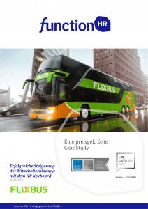 Erfolgsgeschichte Flixbus nutzr HR Keyboard von functionHR für datengestützte Führung und Steigerung der Mitarbeiterbindung