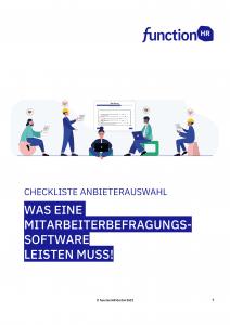 Checkliste Anbieterauswahl Mitarbeiterbefragung Befragungssoftware