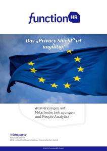 Privacy Shield Abkommen, Datenschutz im Peronalmanagement