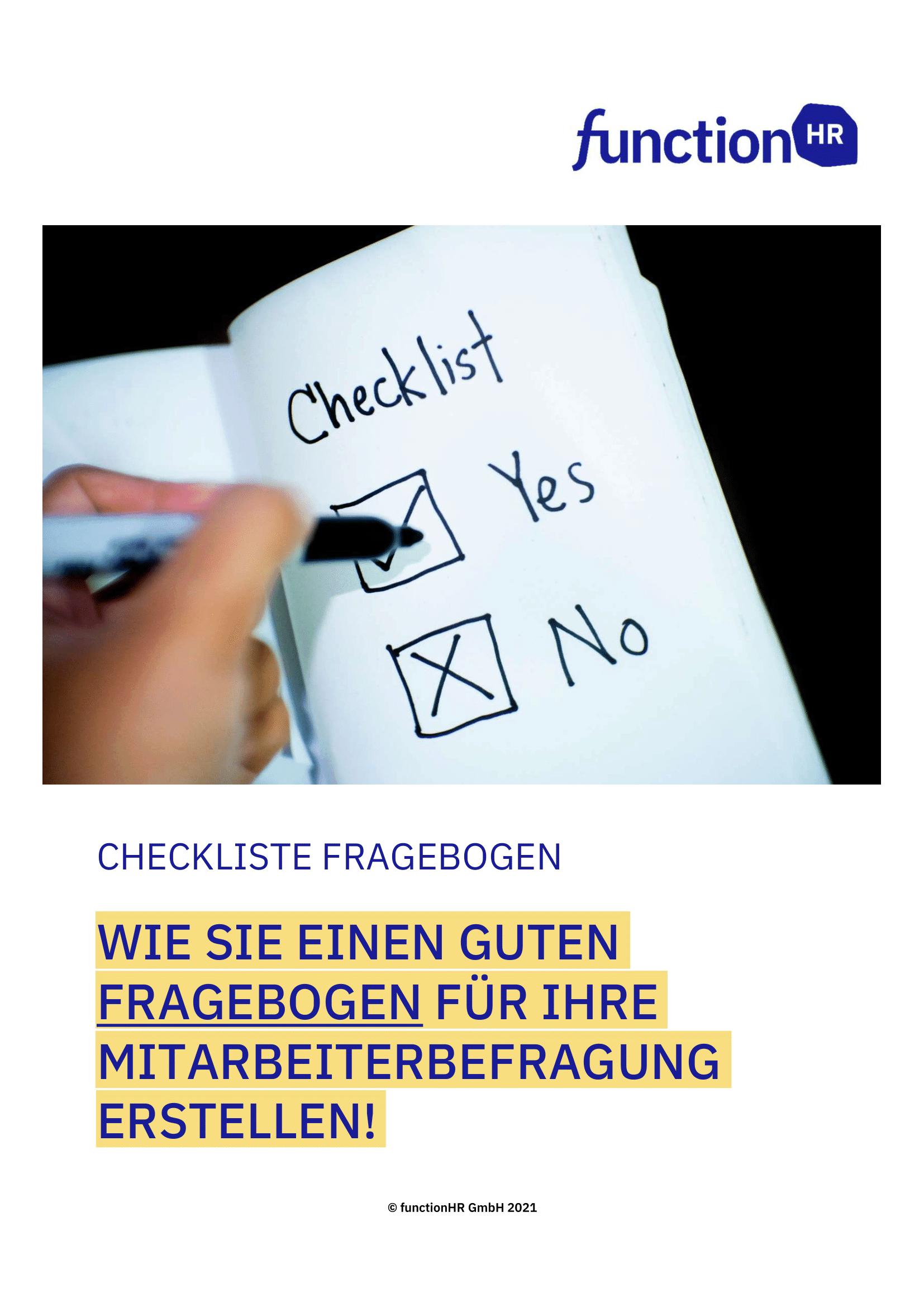 Checkliste Fragebogen Mitarbeiterbefragung